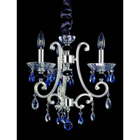 Allegri Nardini 3 Light Chandelier in Two-tone Silver with Swarovski Elements Mixed Crystals 10016-017-SE000