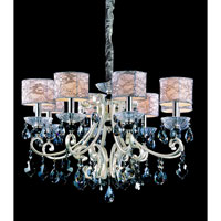 Allegri Nardini 8 Light Chandelier in Two-tone Silver with Firenze Smoke Fleet Argentine Crystals 10018-017-FR006-SA125 photo thumbnail