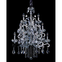Allegri Salieri 6 Light Chandelier in Chrome with Firenze Clear Crystals 10037-010-FR001 photo thumbnail