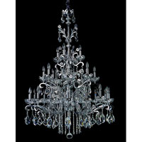 Allegri Salieri 28 Light Chandelier in Chrome with Firenze Clear Crystals 10038-010-FR001