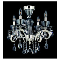 Allegri Locatelli 4 Light Semi-Flush in Two-tone Silver with Firenze Clear Crystals 10090-017-FR001