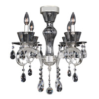 Locatelli 4 Light 20 inch Two-tone Silver Semi-Flush Ceiling Light in Firenze Clear