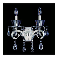 Allegri Locatelli 2 Light Wall Bracket in Two-tone Silver with Firenze Clear Crystals 10092-017-FR001