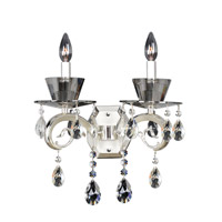 Locatelli 2 Light Two-tone Silver Wall Bracket Wall Light in Firenze Clear