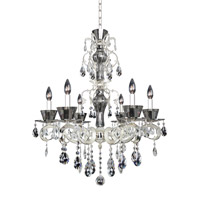 Allegri 10096-017-FR001 Locatelli 6 Light 29 inch Two Tone Silver Chandelier Ceiling Light in Firenze Clear