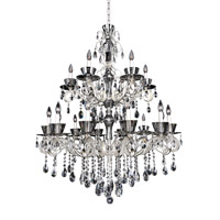 Allegri 10097-017-FR001 Locatelli 18 Light 38 inch Two Tone Silver Chandelier Ceiling Light in Firenze Clear