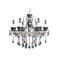 Allegri 10098-017-FR001 Locatelli 6 Light 29 inch Two Tone Silver Chandelier Ceiling Light in Firenze Clear