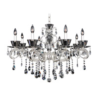 Allegri 10099-017-FR001 Locatelli 8 Light 35 inch Two Tone Silver Chandelier Ceiling Light in Firenze Clear