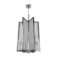 Allegri 10138-010-FR001 Rockefeller 6 Light 20 inch Chrome Chandelier Ceiling Light photo thumbnail
