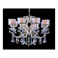 Allegri Bedetti 8 Light Chandelier in Two-tone Silver with Firenze Mixed Crystals 10169-017-FR000-SA132 photo thumbnail