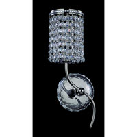 Allegri Florien 1 Light Wall Bracket in Chrome with Firenze Clear Crystals 10183-010-FR001 photo thumbnail