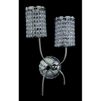 Allegri Florien 2 Light Wall Bracket in Chrome with Firenze Clear Crystals 10184-010-FR001