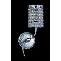 Allegri Florien 1 Light Wall Bracket in Chrome with Firenze Clear Crystals 10185-010-FR001