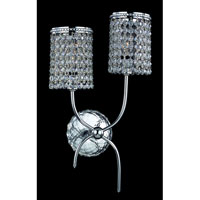 Allegri Florien 2 Light Wall Bracket in Chrome with Firenze Clear Crystals 10186-010-FR001 photo thumbnail