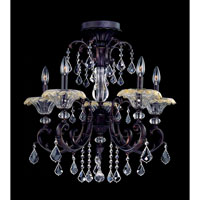 Allegri Praetorius 5 Light Semi-Flush in Sienna Bronze with Firenze Clear Crystals 10210-013-FR001
