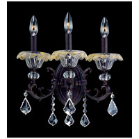 Allegri Praetorius 3 Light Wall Bracket in Sienna Bronze with Firenze Clear Crystals 10211-013-FR001