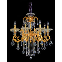 Allegri Praetorius 8 Light Chandelier in French Gold/24K with Firenze Clear Crystals 10216-011-FR001 photo thumbnail