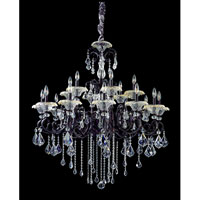 Allegri Praetorius 18 Light Chandelier in Sienna Bronze with Firenze Clear Crystals 10218-013-FR001