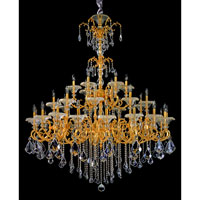 Allegri Praetorius 33 Light Chandelier in French Gold/24K with Firenze Clear Crystals 10219-011-FR001