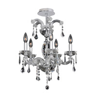 Giordano 5 Light 18 inch Chrome Flush Mount Ceiling Light