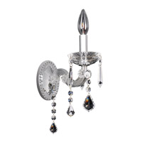 Allegri Giordano 1 Light Wall Bracket in Chrome with Firenze Clear Crystals 10231-010-FR001