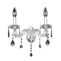 Allegri Giordano 2 Light Wall Bracket in Chrome with Firenze Clear Crystals 10232-010-FR001