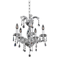 Allegri Giordano 5 Light Chandelier in Chrome with Firenze Clear Crystals 10235-010-FR001