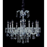 Allegri Giordano 10 Light Chandelier in Chrome with Firenze Clear Crystals 10237-010-FR001