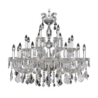 Allegri Giordano 28 Light Chandelier in Chrome with Firenze Clear Crystals 10238-010-FR001