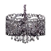 Allegri Bizet 6 Light Chandelier in Sienna Bronze with Swarovski Elements Clear Crystals 10249-013-SE001