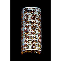 Allegri Berkeley 1 Light Wall Bracket in Chrome with Swarovski Elements Topaz Crystals 10261-010-SE017