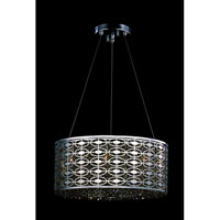 Allegri Berkeley 8 Light Pendant in Chrome with Swarovski Elements Golden Teak Crystals 10268-010-SE009