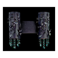 Allegri Franchetti 2 Light Wall Bracket in Sienna Bronze with Swarovski Elements Emerald Crystals 10272-013-SE007