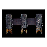 Allegri Franchetti 3 Light Wall Bracket in Sienna Bronze with Swarovski Elements Topaz Crystals 10273-013-SE017