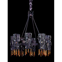 Allegri Franchetti 8 Light Chandelier in Sienna Bronze with Swarovski Elements Topaz Crystals 10279-013-SE017