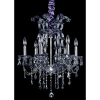Allegri Brahms 6 Light Chandelier in Chrome with Firenze Smoke Fleet Argentine Crystals 10315-010-FR006