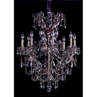 Allegri Brahms 8 Light Chandelier in Rose Gold/24K with Firenze Smoke Fleet Argentine Crystals 10316-012-FR006