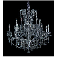 Allegri Brahms 15 Light Chandelier in Chrome with Firenze Smoke Fleet Argentine Crystals 10317-010-FR006