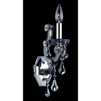 Allegri Brahms 1 Light Wall Bracket in Chrome with Firenze Smoke Fleet Argentine Crystals 10321-010-FR006