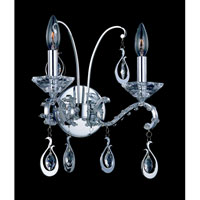 Allegri Torelli 2 Light Wall Bracket in Chrome with Firenze Clear Crystals 10332-010-FR001 photo thumbnail