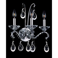 Allegri Torelli 3 Light Wall Bracket in Chrome with Firenze Clear Crystals 10333-010-FR001