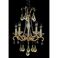 Allegri Torelli 5 Light Chandelier in 18K Gold with Firenze Clear Crystals 10336-018-FR001