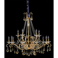 Allegri Torelli 15 Light Chandelier in 18K Gold with Firenze Clear Crystals 10338-018-FR001