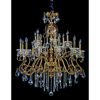 Allegri Haydn 18 Light Chandelier in Antique Brass with Firenze Clear Crystals 10347-003-FR001