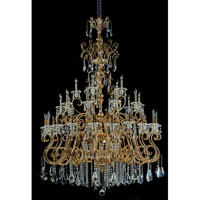 Allegri Haydn 41 Light Chandelier in Antique Brass with Firenze Clear Crystals 10349-003-FR001