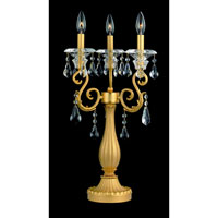 Allegri Haydn 3 Light Table Lamp in Antique Brass with Firenze Clear Crystals 10357-003-FR001