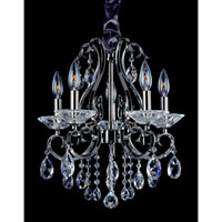 Allegri Cesti 5 Light Chandelier in Black Pearl with Firenze Clear Crystals 10366-007-FR001