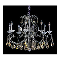 Allegri Cesti 8 Light Chandelier in Black Pearl with Swarovski Elements Golden Teak Crystals 10368-007-SE009 photo thumbnail