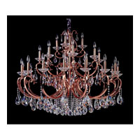 Allegri Cesti 28 Light Chandelier in Rose Gold/24K with Firenze Clear Crystals 10369-012-FR001