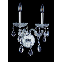 Allegri Signature 2 Light Wall Bracket in Chrome with Swarovski Elements Clear Crystals 10402-010-SE001